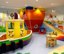 Thiết kế khu vui chơi trẻ em theo phong cách biển xanh